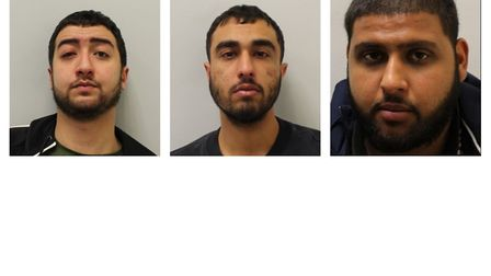 Nor Hamada, Adam Kahlil and Haroon Akram jailed for manslaughter of Tudor Simionov. Picture: Met Pol