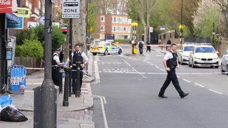 The scene of a stabbing in Quex Road, just off the Kilburn High Road. Picture: David Nathan