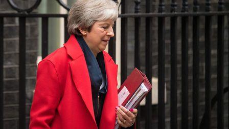 Prime Minister Theresa May leaves 10 Downing Street. Photograph: Dominic Lipinski/PA Wire.