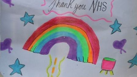 A tribute to the NHS. Picture: Northwick Park Hospital