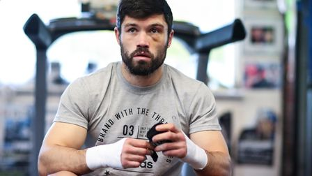 John Ryder at the Matchroom Boxing Gym (pic Mark Robinson)