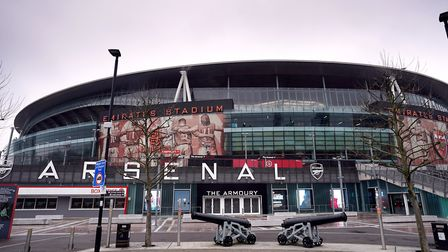 A general view outside the Emirates Stadium, home of Arsenal