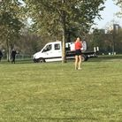 The van with a loudspeaker in Finsbury Park. Picture: @StokeyUpdates