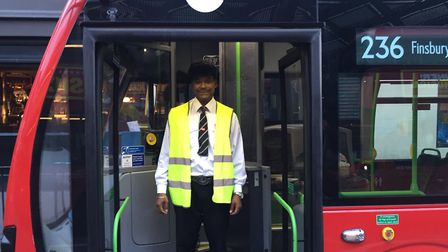 Nelson Campos is a 236 bus driver and the star of this week's who's who. Picture: Lucas Cumiskey