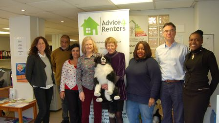 The Advice4Renters team pre lockdown have launched a new website. Picture: Jacky Peacock