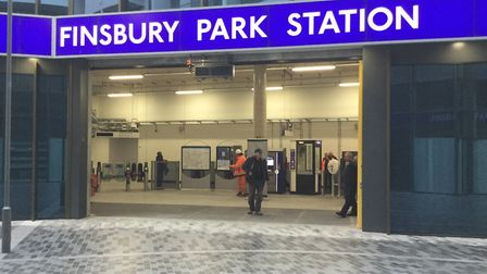 The new Finsbury Park station entrance. Picture TfL