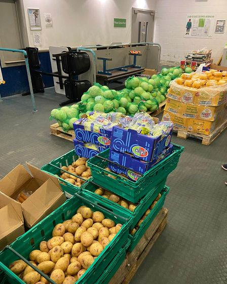 Islington Food Distribution centreat the Sobell Centre. Picture: Billy Wells
