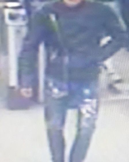 Police wish to speak to this man after woman was robbed at knifepoint in Kilburn Station. Picture: B