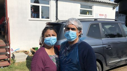 Daksha Versani and Paresh Jethwa, who run Alperton's Community Response Kitchen. Picture: Danny Coyl
