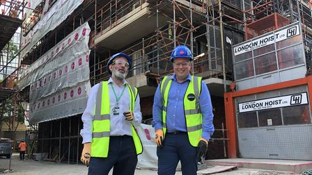 Islingto's director of new build Jed Young and housing chief Cllr Diarmaid Ward. Picture: Kate Robso
