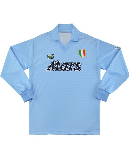 Napoli's 1990-91 home shirt is the second most valuable club jersey according to research by casumo