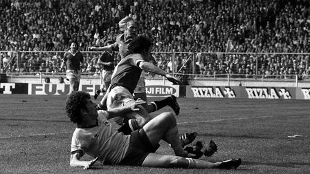 Alan Sunderland sides in to connect with a Graham Rix cross to clinch victory for Arsenal with a thi