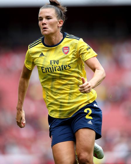 Arsenal's Katrine Veje during the Emirates Cup match at the Emirates Stadium, London.