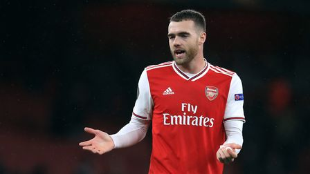 Arsenal's Calum Chambers during a UEFA Europa League match at the Emirates Stadium