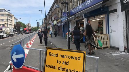 TfL's changes to Nag's Head roads. Picture: Cllr Caroline Russell