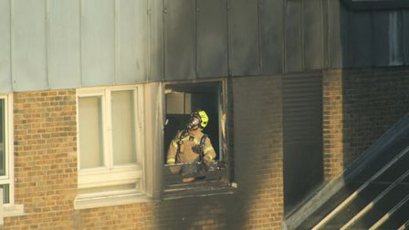 St Luke's Estate fire. Picture: Christopher Reeves