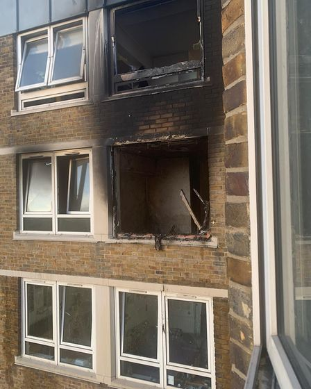 A fire broke out in a flat on St Luke's Estate on May 18. Picture: Nicola Rodrigues