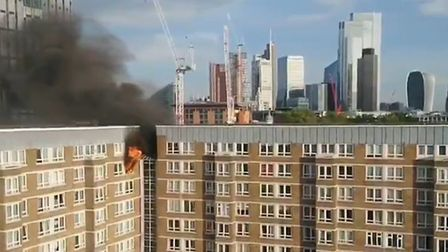 Fire on St Luke's Estate. Picture: Christopher Reeve