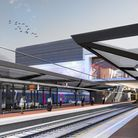 A vew of how Brent Cross station will look upon completion. Picture: LDRS