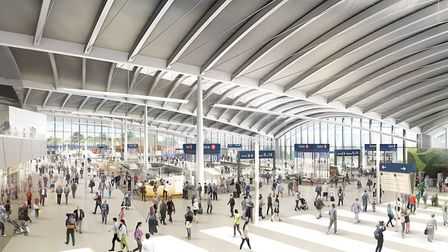 Visual of ground floor at Old Oak Common Station. Picture: HS2