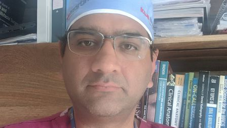 Welwyn Hatfield Cllr Sunny Thusu has been working as a surgeon with coronavirus patients. Picture: S