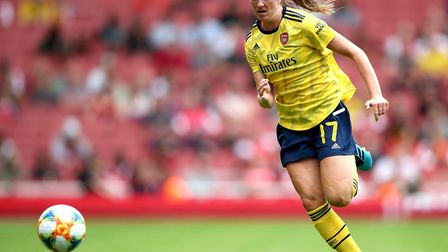 Arsenal's Lisa Evans during the Emirates Cup match at the Emirates Stadium, London.