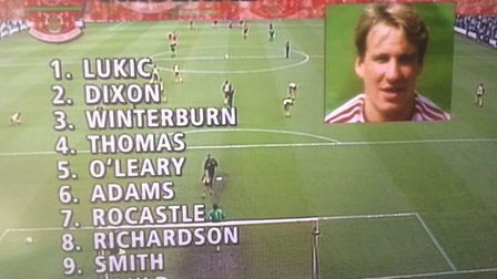 Arsenal's starting XI at Anfield on May 26, 1989