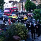 "The emergency services on the scene of a ""domestic incident"" in Southgate Road. Picture: Joshua Thur"