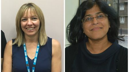 Gail Burrell and Dr Deepti Shah-Armon, from the management team of the CNWL NHS Trust's mental healt