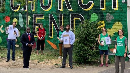 Faiths United gave food and face masks to Brent and North Paddington Food Banks on May 27. Picture: