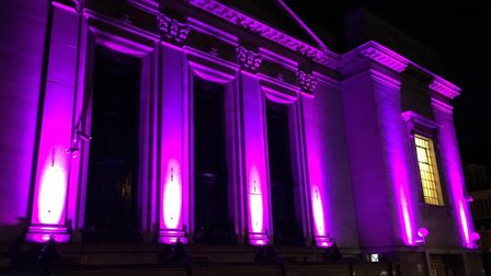 Islington Assembly Hall was lit purple on June 2 in a show of solidarity with George Floyd, who was