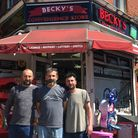 The Kir brothers of Becky's Convenience Store. From left to right: Yusuf, Huseyin and Ozgur. Picture