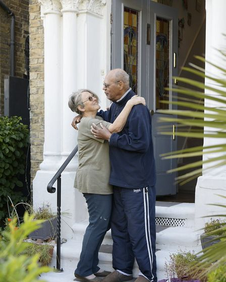 Celia 75 and Neil 8.Residents of the road since 1985 but both lovers of Hackney since the 60s. Neil