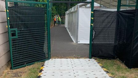 Covid-19 testing site opening in Harlesden. Picture: Brent Council