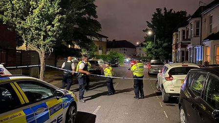 The scene after the shooting. Picture: David Nathan