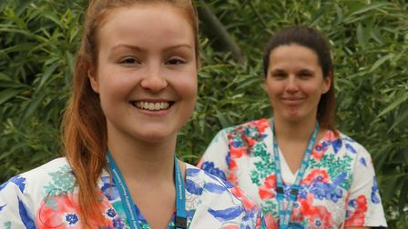 Paediatric occupational therapists Celine Broad and Catherine Anderson redeployed to mortuary. Pictu