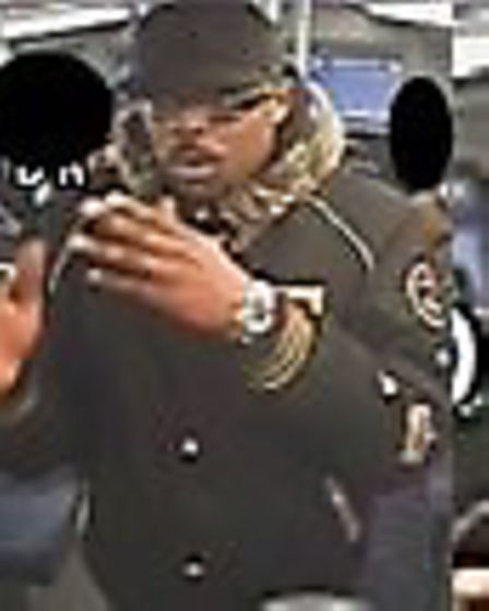 Images of man police wish to speak to after Harlesden bus assault. Picture: Met Police