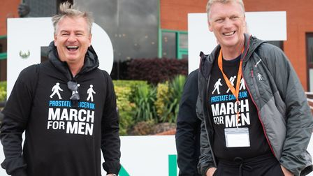 Charlie Nicholas and David Moyes at a Prostate Cancer UK event (pic Morgan Warrender/brownsphoto.co.
