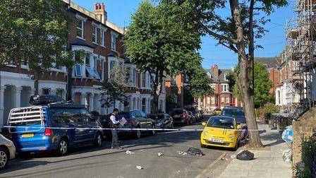 The police cordon in Witherington Road. Picture: Archant