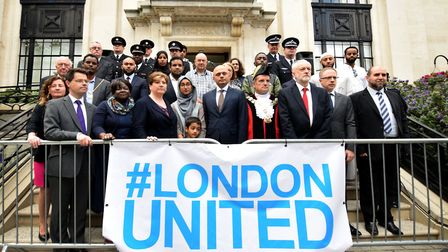 Politicians, faith leaders and community leaders gathered at the steps of Islington Town Hall to mar