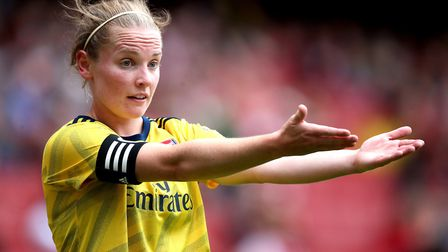 Arsenal's Kim Little during the Emirates Cup match at the Emirates Stadium, London.