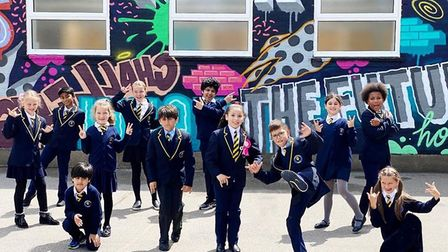 Preston Park Primary school pupils delighted with new mural. Picture: Cllr Ketan Sheth