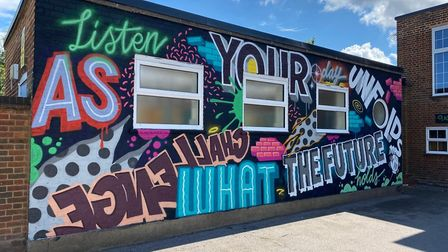 New mural at Preston Park Primary School in Wembley. Picture: Cllr Ketan Sheth