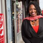 Dawn Butler MP outside her office in Willesden High Road in 2015