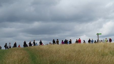 Community gathers at Remembrance Service for murdered sisters in Fryent Country Park. Picture: Marti