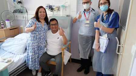A&E nurse Franco Palo was the 1000th patient at Northwick Park to recover from Covid. PIcture: LNWHU