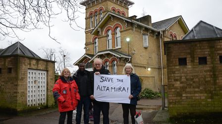 Campaigners outside Altamira in Stonebridge. Picture: Willesden Local History Society.