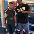 Youssef Khoumari with Dillian Whyte at the IQ Boxing Gym in Neasden (pic Youssef Khoumari)