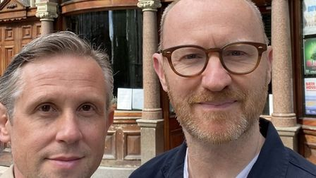 Actors Ian Hallard and Mark Gatiss are outside the King's Head Theatre. Picture: Submitted by The Ki