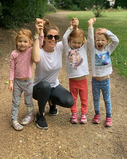Triplets from Thornhill and their mum. Picture: Run Kids Run